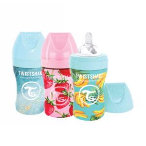 Twistshake® Bočica od nehrđajućeg čelika Anti-Colic 260ml